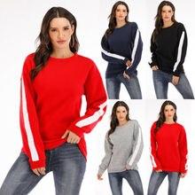 Женский Пушистый свитер, джемпер, длинный рукав, Женская толстовка, для бега, йоги, энергии, для спортзала, для девушек, пуловер, джемпер, топы