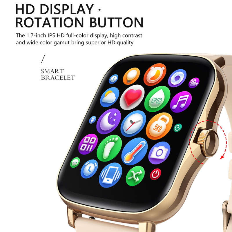 MAFAM P8 Plus 1.69 pollici Smart Watch uomo donna Full Touch Fitness Tracker Smartwatch impermeabile 2021 per huawei xiaomi phone 2