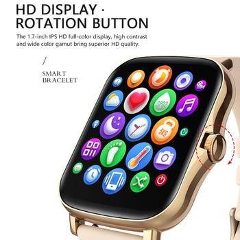 MAFAM  P8 Plus 1.69 inches Smart Watch Men Women Full Touch Fitness Tracker Waterproof Smartwatch 2021  For huawei xiaomi phone 2