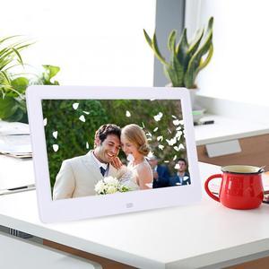 Image 2 - Cadre Photo numérique ultra mince HD 10 pouces écran LED rétro éclairage électronique Album Photo image musique lecteur de film télécommande