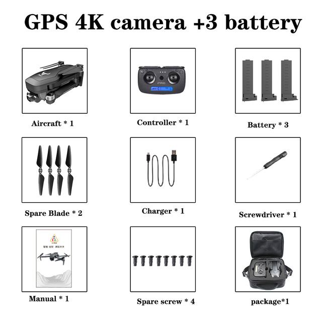 SHAREFUNBAY SG906 pro drone 4k HD mechanical gimbal camera 5G wifi gps system supports TF card flight 25 min rc distance 1.2km