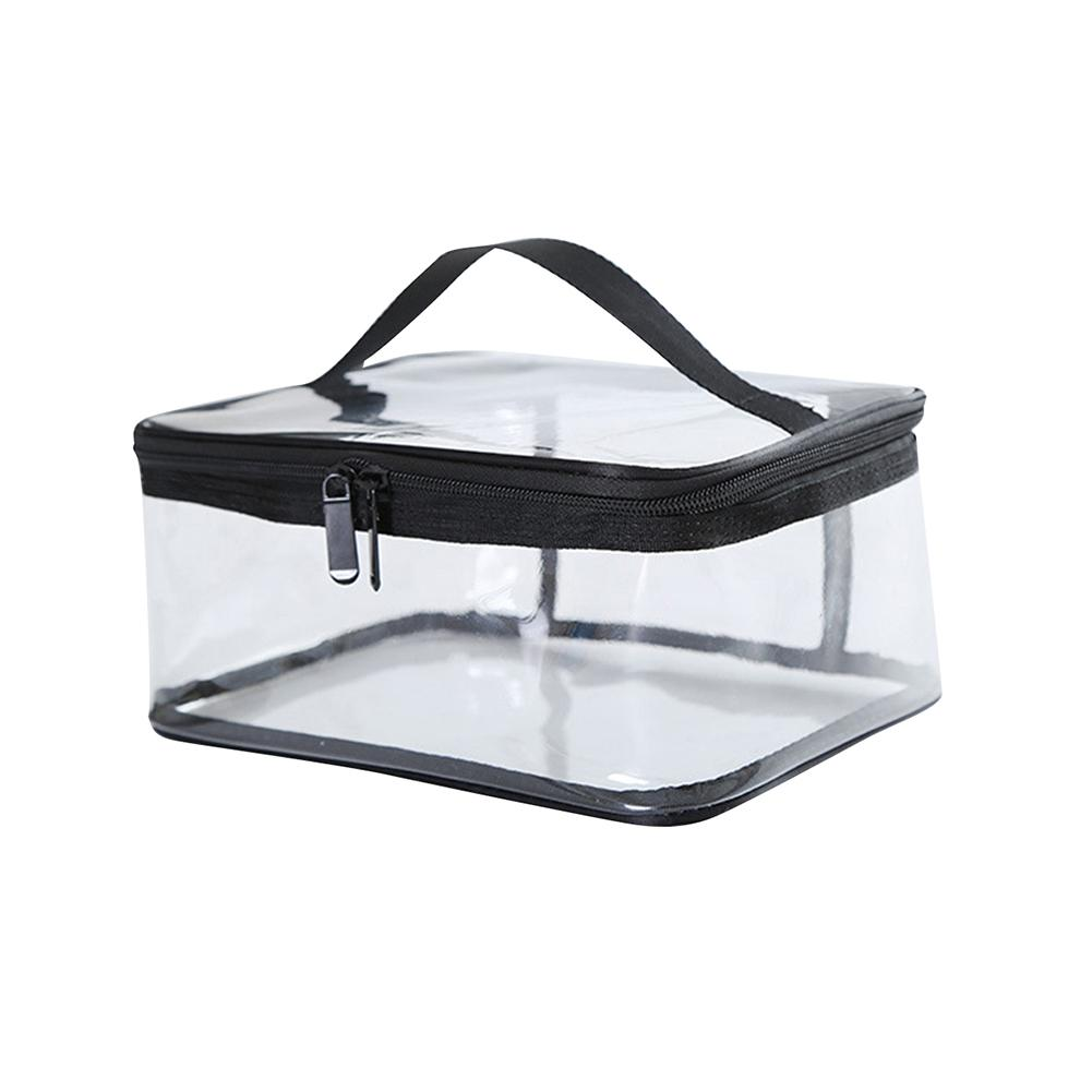 Portable Clear Makeup Cosmetic Bag Waterproof Transparent PVC Travel Storage Pouch Cosmetics Toiletry Kit Box Bags With Handle