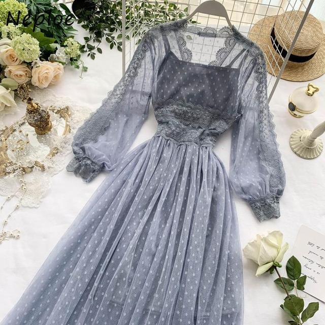 Chic Mesh Vintage Elegant  with Exquisite Beading dress 6