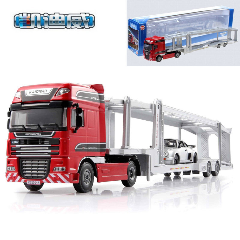 Cadeve 625043 Engineering Freight Truck Model Toy Decoration Car Freight Truck Gift Box Alloy