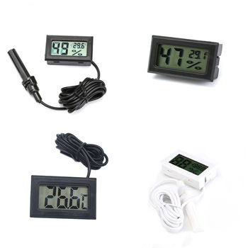 Mini LCD Digital Thermometer Hygrometer Temperature Indoor Convenient Temperature Sensor Humidity Meter Gauge Instruments Cable
