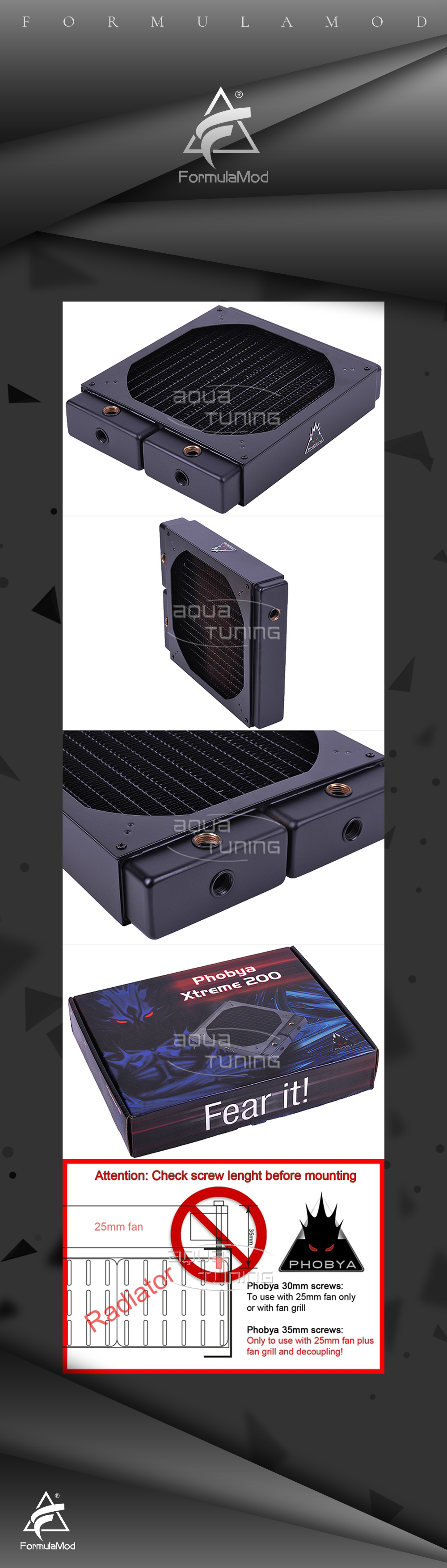 Cold Cold drainage copper heat Phobya Xtreme 200 - V.2 version of matt black 650D 600T