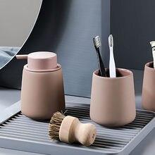 350ml Ceramic Soap Dispenser Nordic Bathroom Hair Conditioner Shower Gel Shampoo Bottles Hotel Hand Wash Empty Refill Sub-bottle