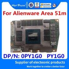 Nova placa gráfica original para dell alienware área 51m nvidia rtx 2070 8 gb placa gráfica N18E-G2-A1 LS-G88BP 0py1g0 py1g0