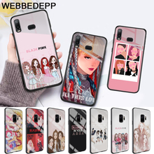 black pink Glass Case for Samsung S7 Edge S8 S9 S10 Plus A10 A20 A30 A40 A50 A60 A70 Note 8 9 10 harry styles butterfly glass case for samsung s7 edge s8 s9 s10 plus a10 a20 a30 a40 a50 a60 a70 note 8 9 10
