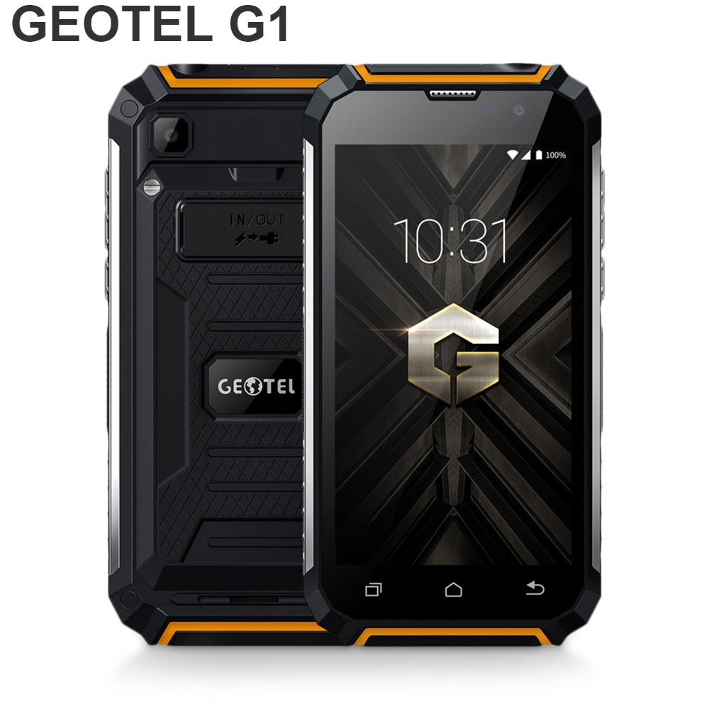 GEOTEL G1 5-inch 3G Smartphone Android 7.0 2GB RAM 16GB ROM MTK6580A 4-core 1.3GHz Water-resistant 7500mAh Mobile Cellphones