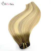 HiArt 180g Clip In Extensions Real Human Hair Extension Cheveux Clip Naturel 7pc Full Head Clips Hair Balayage Straight Factory
