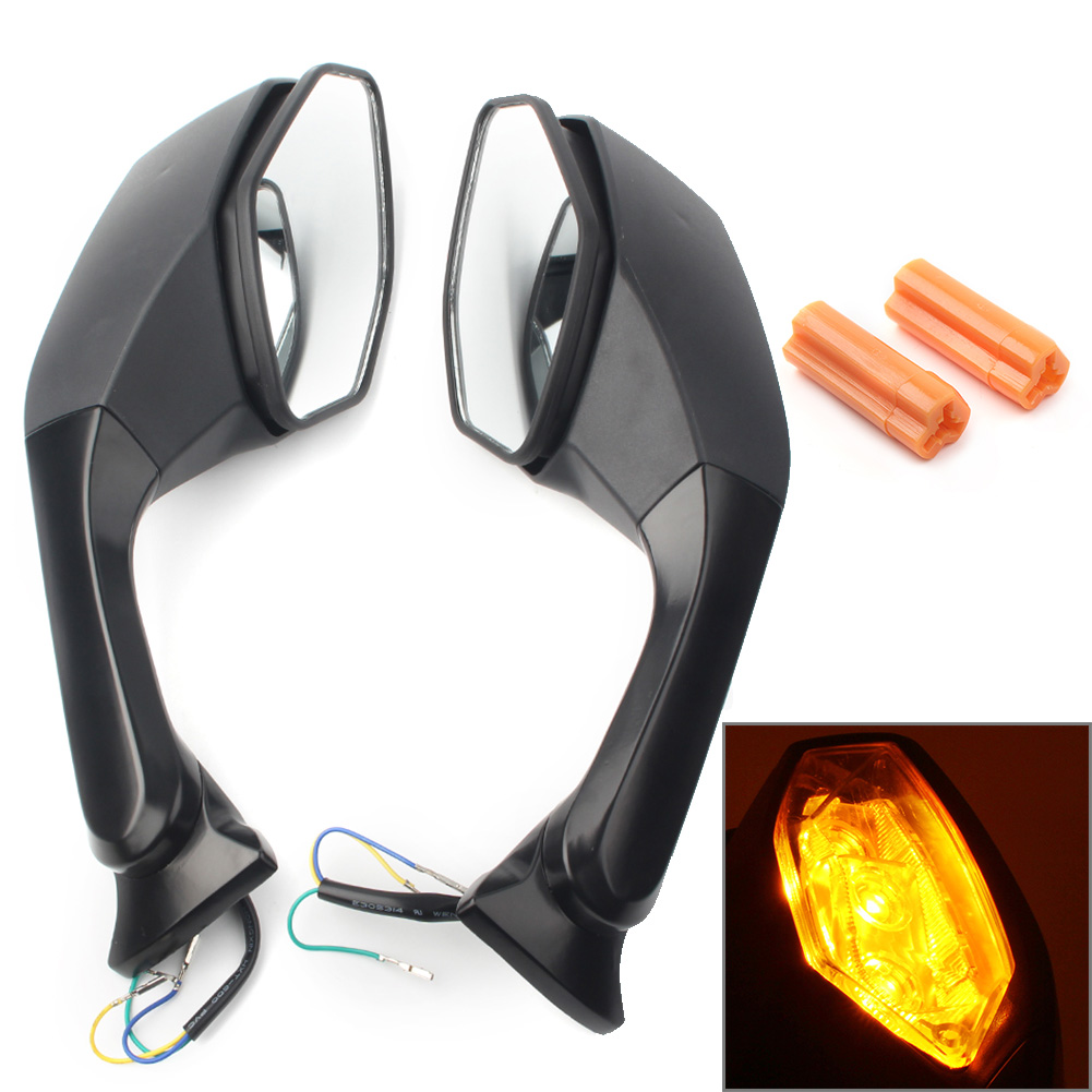 Motorcycle Rearview Mirror LED Turn Signal Light For Yamaha YZF R6 2017 & YZF <font><b>R1</b></font> 2015 2016 2017 2018 <font><b>2019</b></font> Left & Right Pair image