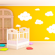 Smiley Clouds Wall Decals Vinyl Wall Decals Unique Smiley Clouds Wall Stickers For Kids Room Glass Decor Wall Sticker