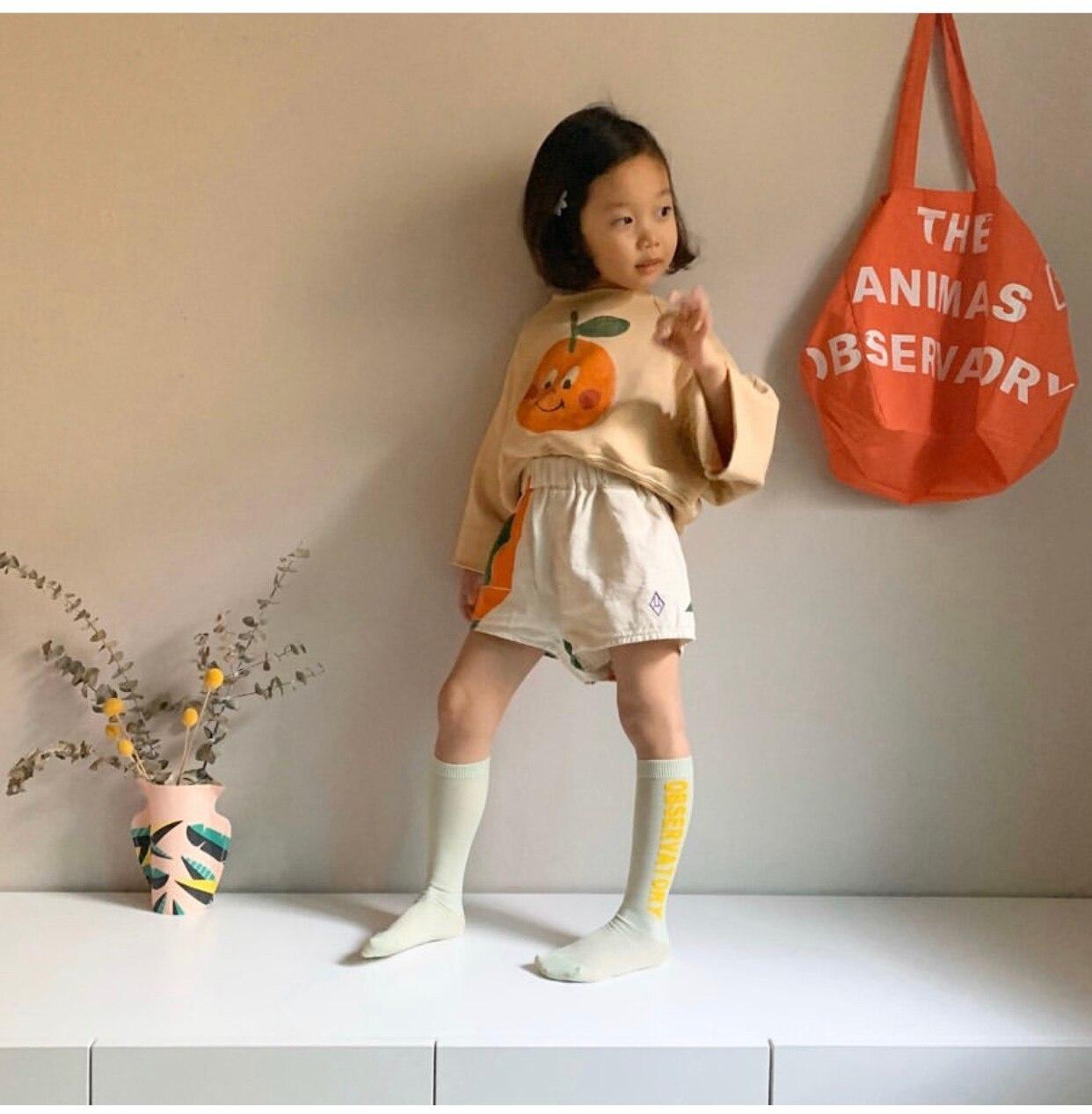 Kids Tube Socks Spring Autumn 2021 New TAO Brand Toddler Girls Fashion Spain Design Infant Baby Knee High Socks Girls Boy Socks 2