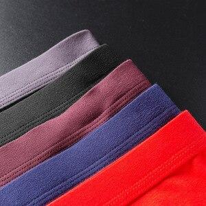 Image 4 - 4 sztuk/partia oddychająca modalne bielizna męska nowe majtki męskie body męskie wygodne stałe kalesony męskie majtki
