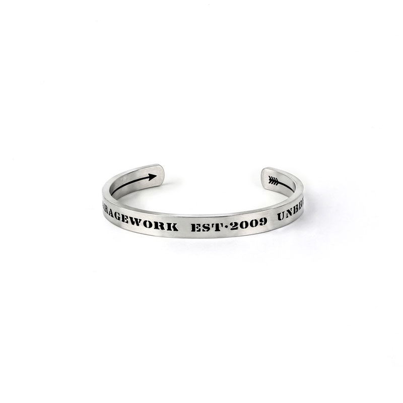 European and American trend jewelry retro style West Coast Gothic letter intaglio number opening couple titanium steel bracelet