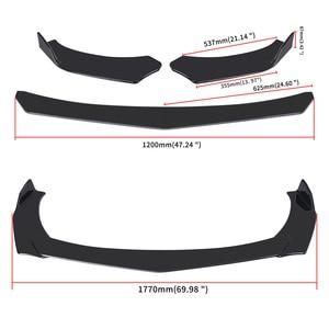 4 Pieces Car Front Bumper Lip Body Kit Spoiler Splitter ABS Bumper Canard Lip Splitter Universal For Tesla Model 3 Sedan