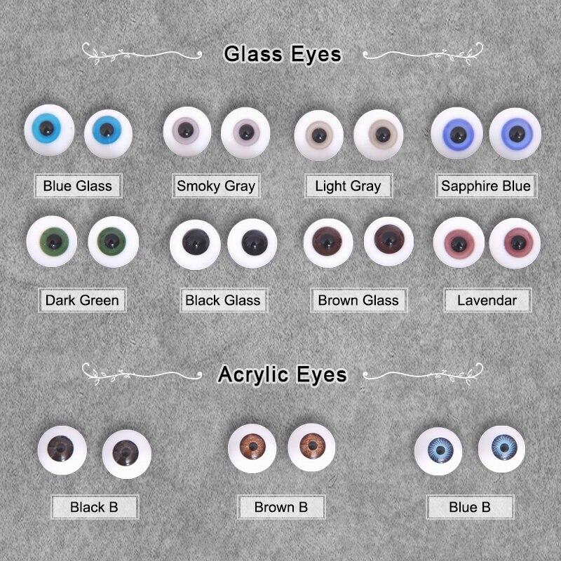 Кукла BJD Eyes Craft Стекло Акриловая безопасная игрушка для животных глазное яблоко 1/3 1/4 1/6 1/8 серый зеленый синий 6 8 10 12 14 16 18 мм BJD аксессуары