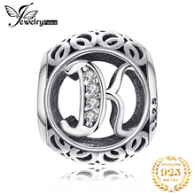 Jewelrypalace 925 Sterling Silver Letter K Cubic Zirconia Beads Charms Fit Bracelets Gifts For Woman Anniversary Fashion Jewelry недорого