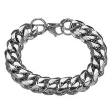 Cool Men Bracelet Silver Color / Gold Stainless Steel & Bangle Male Accessory Hip Hop Party Rock Jewelry