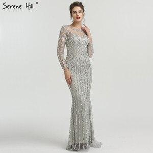 Image 5 - Ruhigen Hill Schwarz Mit Langen Ärmeln Meerjungfrau Abendkleid 2020 Funkelnden Kristall Gefrieste Sexy Formale Partei Kleid CLA6591