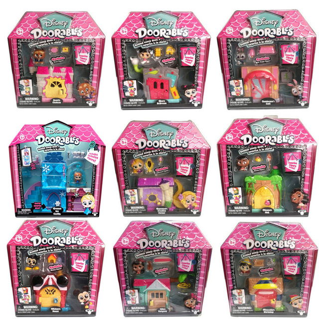 Disney Doorables Frozen Elsa Olal Mickey Minnie Judy Pinocchio Rapunzel Alice Snow White Belle Princess Blind Box Girl Kids Toys 6
