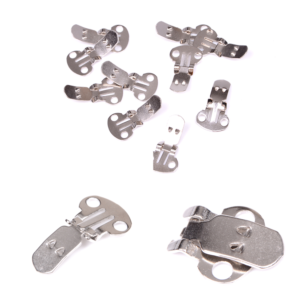 20PCS/Set Silver Color DIY Craft Buckles For Shoes Accessories Blank Stainless Steel Flower Shoes Clips Ornament On Findings