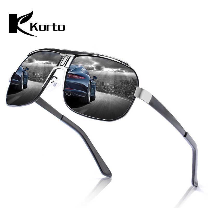 Gafas de sol polarizadas de marca Korto 2019 gafas de sol de gran tamaño para hombre gafas de sol clásicas de espejo de conducción para hombres