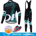 ORBEAING 2019 zimowy termiczny polar ciepły kolarstwo zestaw koszulek odzież termoaktywna rowerowa Mtb konna odzież Ropa Ciclismo