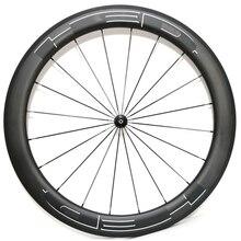 Carbon bicycle wheelset 60mm depth clincher tubular road bike U shape wheels Novatec hub цена 2017