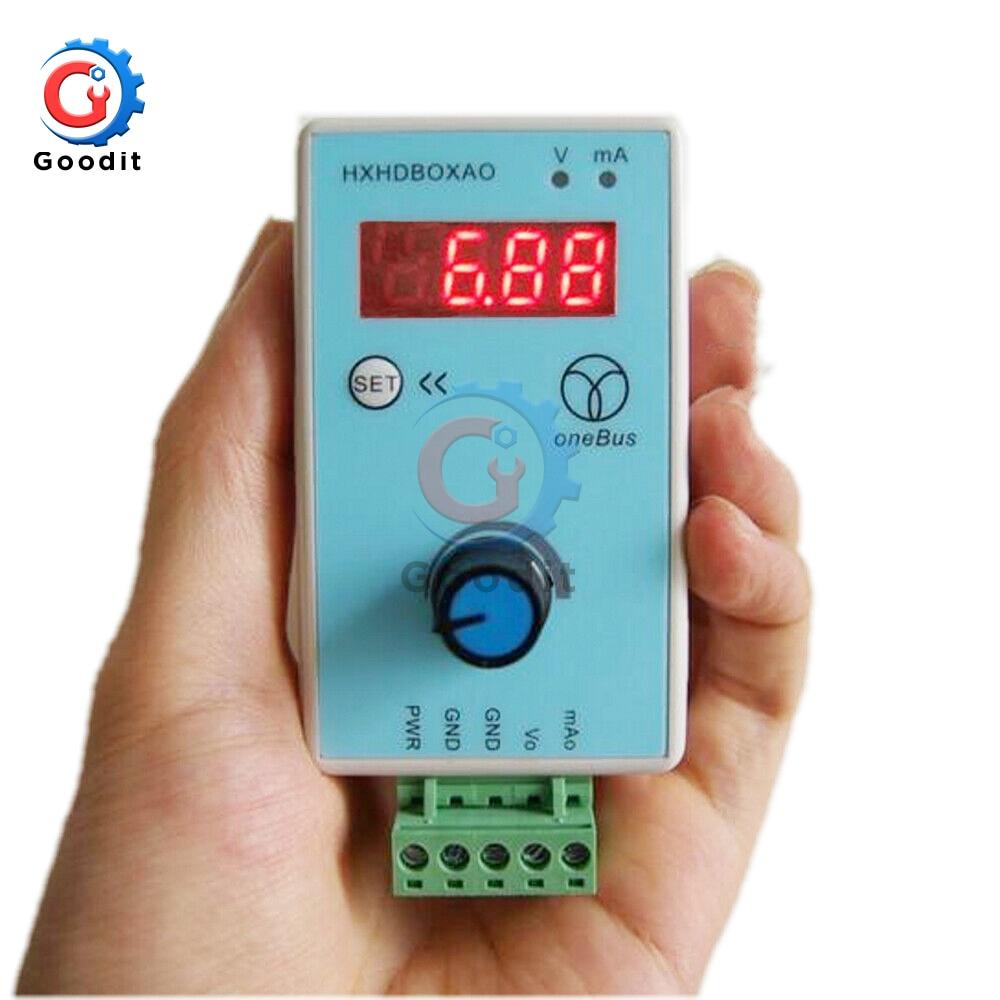 Ручной генератор сигналов 0-10 В/2-10 в 0-20 мА/4-20 мА Регулируемое напряжение тока Аналоговый симулятор источники сигнала выход 24 В