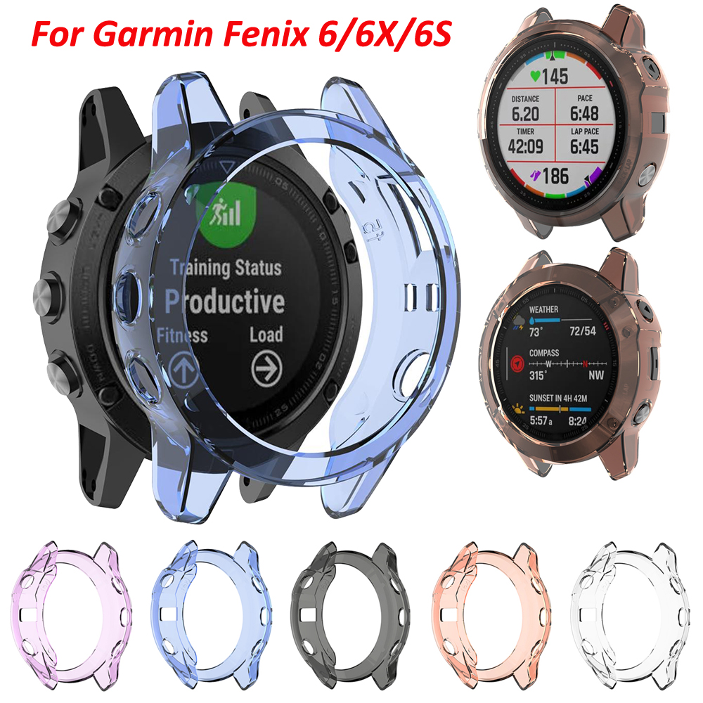 Protective Case Soft Crystal Clear TPU Protector For Garmin Fenix 6X 6S 6 Pro Smartwatch Accessories Cover Case Shell Anti Shock