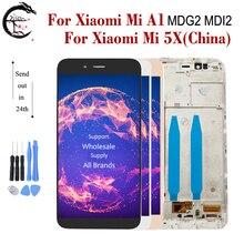 """5.5 """"LCD ile çerçeve için Xiaomi Mi A1 LCD MiA1 ekran dokunmatik ekran sensörü sayısallaştırıcı meclisi değiştirme Xiaomi 5X ekran"""