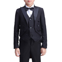 Formal Boys suit for weddings Kids Prom Suits Black Wedding Suits for Boys Tuxedo Children Clothing Set Boy Formal Costume