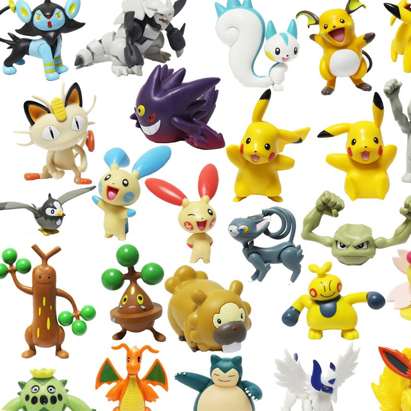 Pokemon Large Joint Movable Model Action Figure Dragonite MEGA Aggron Meowth Snorlax Geodude Gengar Sudowoodo Collection