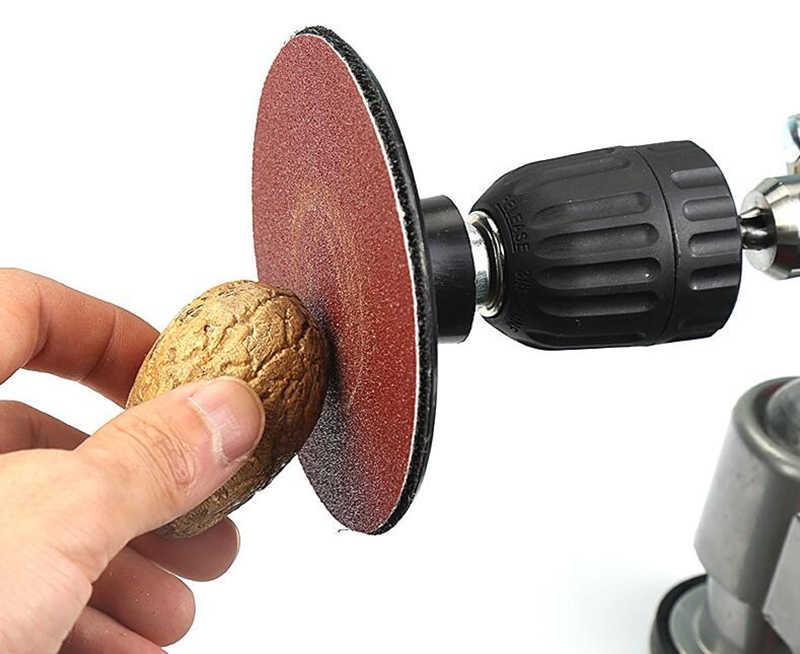 40Pcsชุดแผ่นขัดกระดาษทรายHook Loopอะแดปเตอร์เจาะเครื่องมือขัดชิ้นส่วนอุปกรณ์เสริมสำหรับเครื่องมือขัด