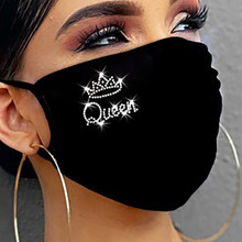1 шт. PM2.5 наружная моющаяся многократная маска для лица Защита для рта с принтом Пыленепроницаемая мягкая маска для лица дышащий уход многор...