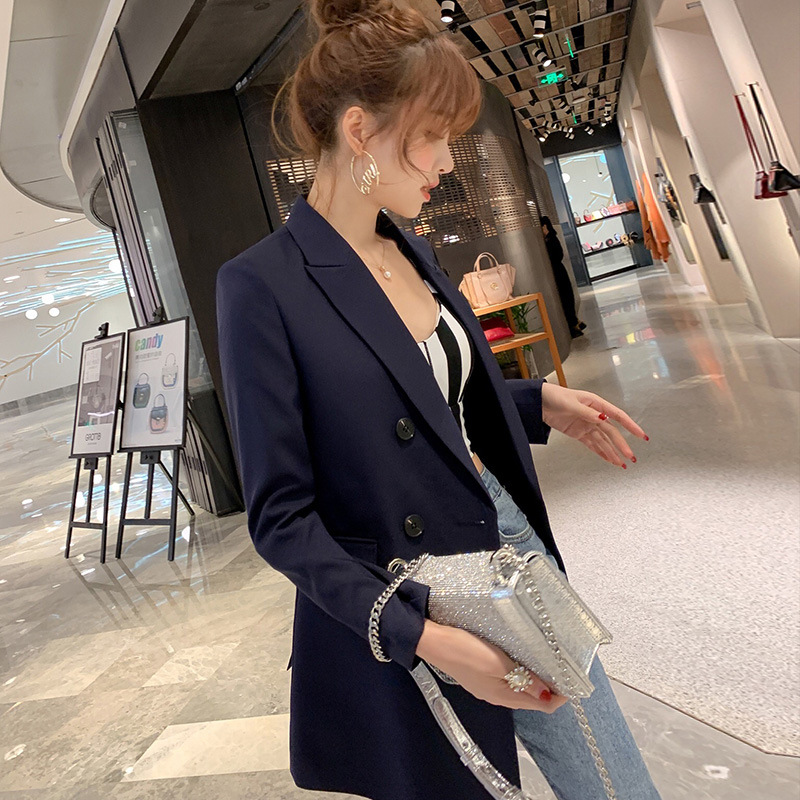 2020 new spring and autumn elegant women's blazer Casual and feminine suit with high quality Office jacket loose