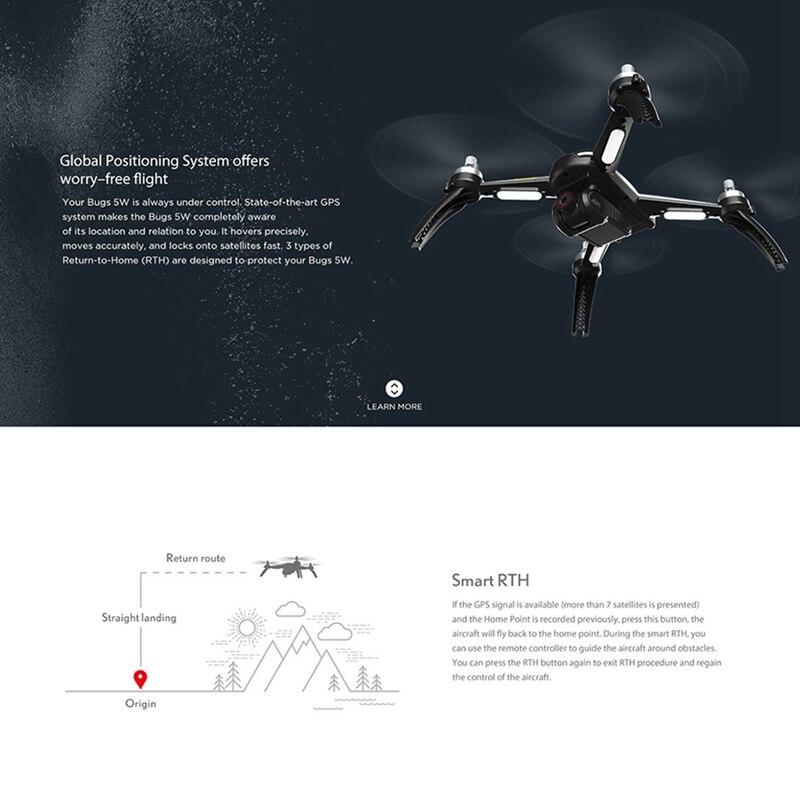 MJX B5W Upgrade 4k HD Luchtfotografie Borstelloze GPS Automatische Terugkeer Drone Lange Levensduur Afstandsbediening Speelgoed Quadcopter Vliegtuigen - 3