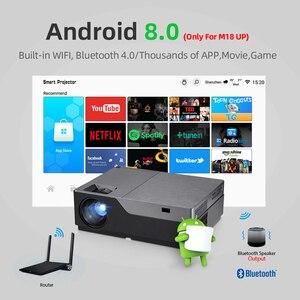 Image 3 - AUN projecteur Full HD M18UP, 1920x1080P, Android 8.0 WIFI vidéoprojecteur, projecteur LED pour Home Cinema 4K (en option M18 AC3)