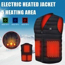 USB обогрев жилет теплый жилет умный электрический обогрев жилет мужской и женский открытый спортивный жилет
