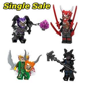 Single Sale Ninjagoes Minifigures Action Figures Building Blocks Mr.E Compatible Bricks Birthday Gift Toys For Children