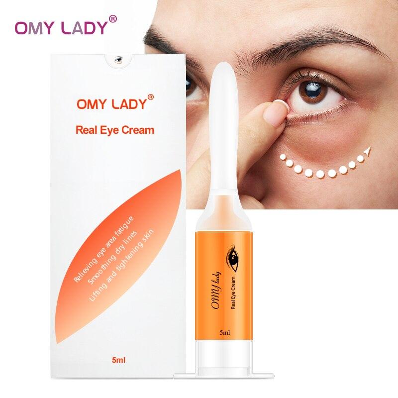 OMY LADY Eye Cream Instant Remove Eyebags Firming Eye Anti Puffiness Dark Circles Under Eye Anti Wrinkle Anti Age Eye Serum 5ML