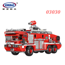 XINGBAO 03030 NEW City Fire Fighting Series The Water Tank Truck Set Building Blocks Engine Bricks Compatible Legoings