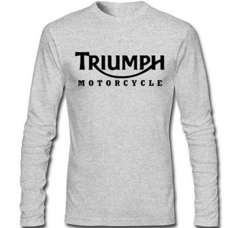Triumph Motorcycles Bike Long Sleeve Casual T-Shirt(S-XXXL)
