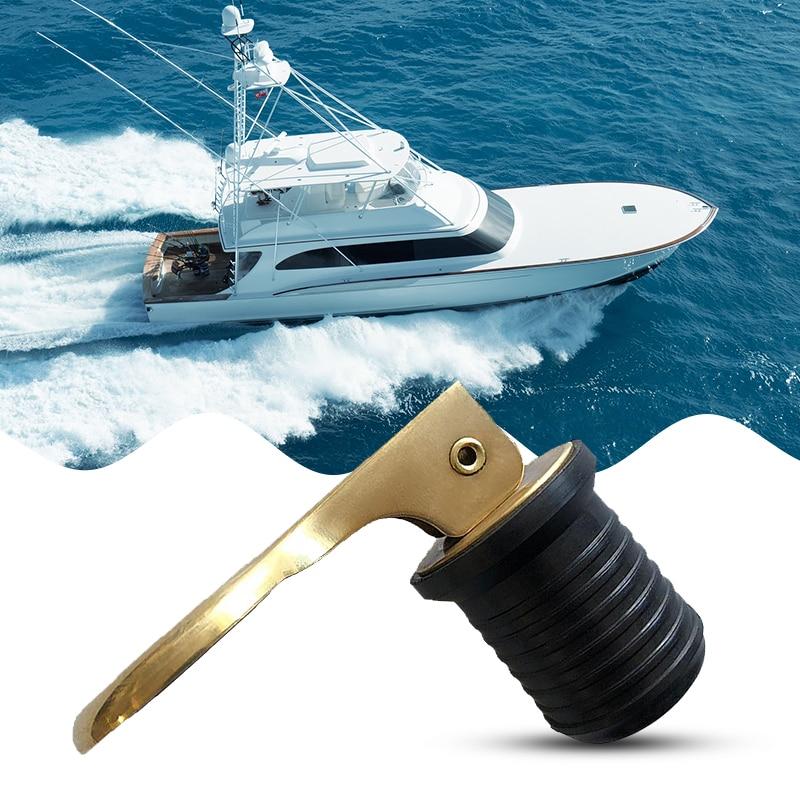 MagiDeal 24mm Brass /& Rubber Boat Hull//Livewell//Baitwell Twist Drain Plug Turn-tite Drain Plug
