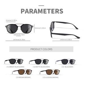 Image 4 - AOFLY العلامة التجارية مصمم الكلاسيكية نظارات شمسية مستقطبة الرجال النساء خفيفة TR90 إطار النظارات الشمسية المستديرة للذكور Gafas Oculos دي سول