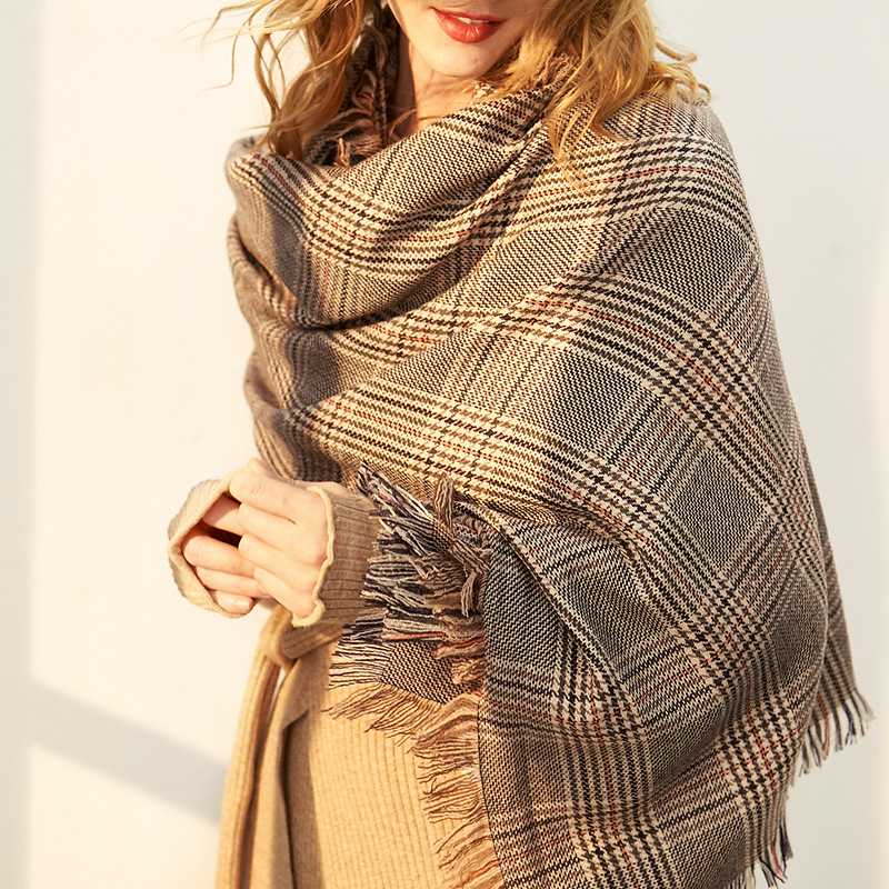 LS2025 New Wool Scarf for Women in Autumn and Winter