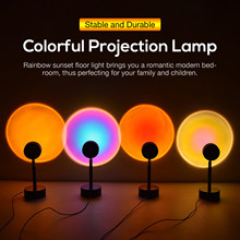 2021 Sunset Lamp Projector Rainbow Atmosphere LED Night Light Home Bedroom USB Lamp Live Room Photography Photo Wall Decoration