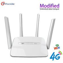 Port RJ45 Hotspot antena bramka CPE 300 mb s odblokowany Router gniazdo karty Sim Hotspot Wi Fi przenośny bezprzewodowy LTE 3G 4G tanie tanio TIANJIE CN (pochodzenie) wireless 150 mbps 1X300Mbps 1 x USB 2 4g Brak 300 mbps C300-00 Wi-fi 802 11b Bezprzewodowy dostęp do internetu 802 11n